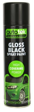 Autotek Gloss Black Spray Paint - High Coverage