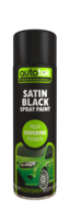Autotek Satin Black Spray Paint - High Coverage