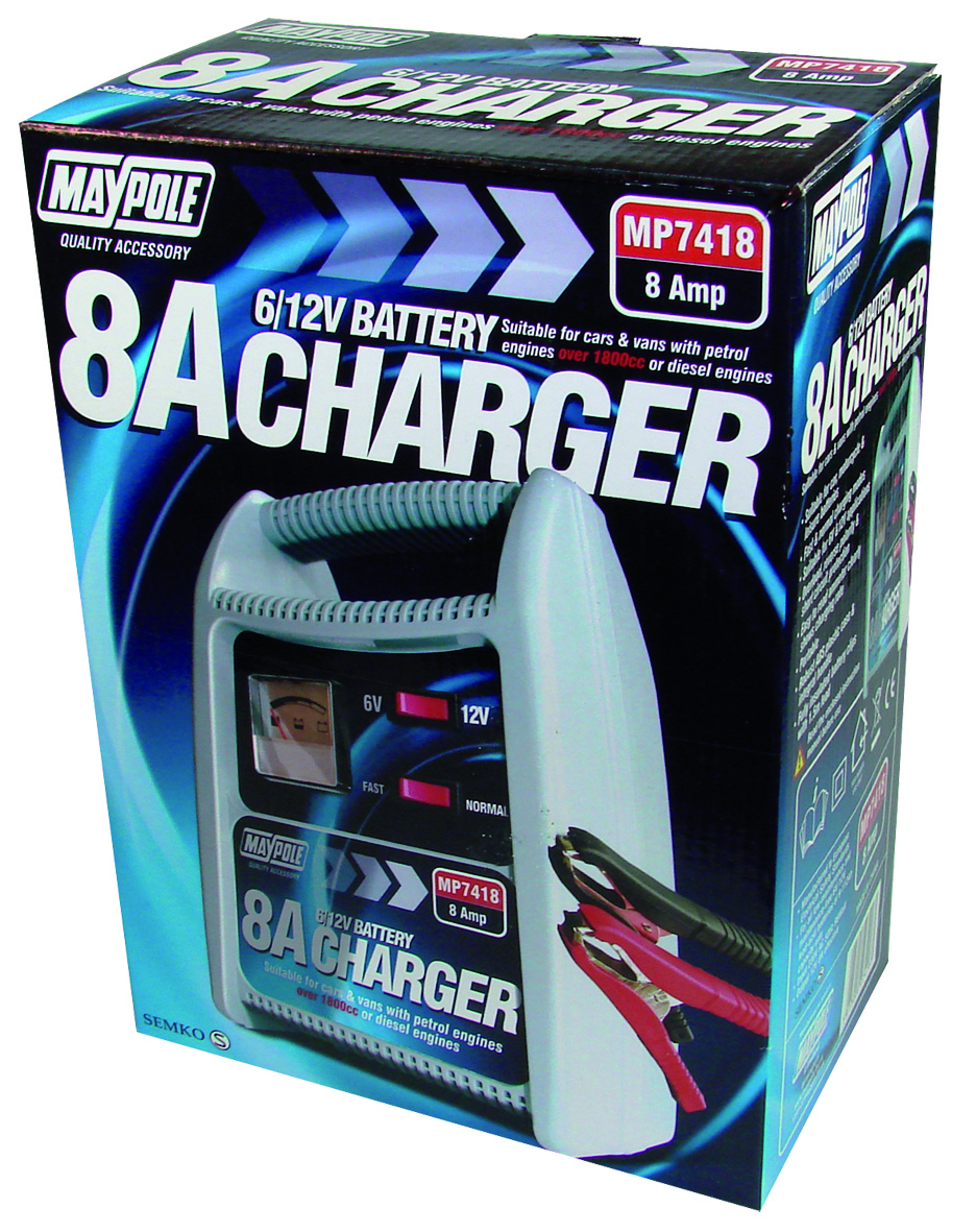 Maypole 7418 8A Battery Charger 12V