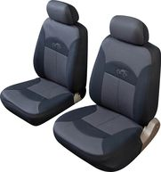 Car Seat Cover Celcius Front Pair - Black/Grey