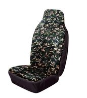 Car & Van Seat Cover Front Single Hi-Back - Camouflage