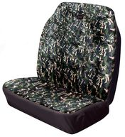 Van Front Double Seat Cover Hi-Back Stretch - Camouflage