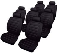 Ford Galaxy (2000-06) Car Seat Covers Leatherlook Full Set - Black