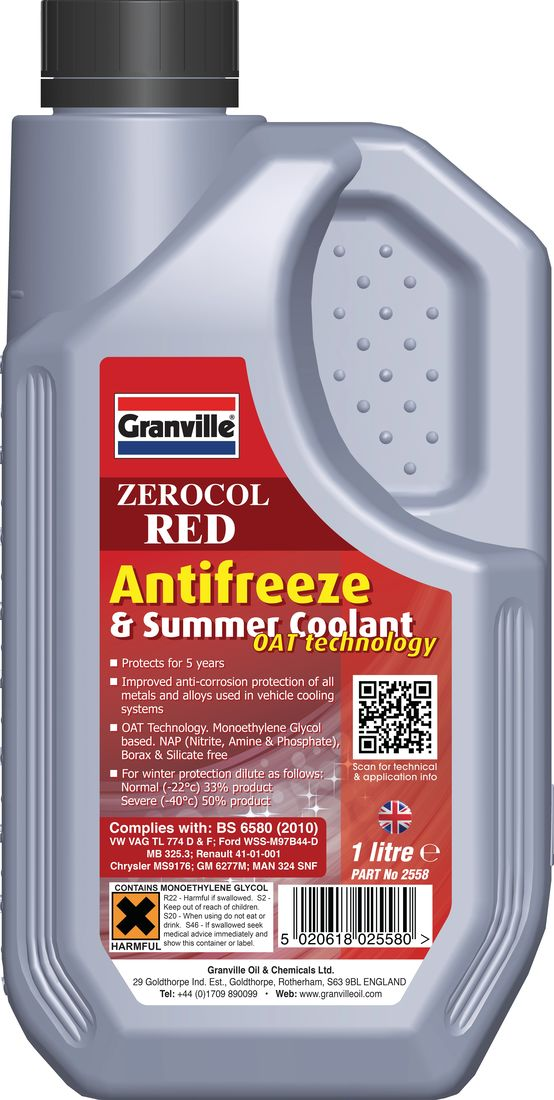 Granville Zerocol Red Antifreeze