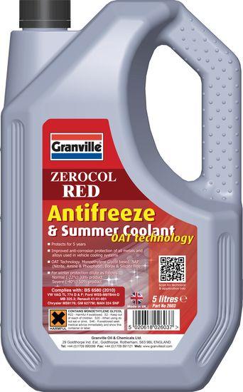 granville zerocol red antifreeze