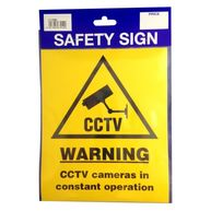 CASTLE PROMOTIONS Outdoor Vinyl Sticker - CCTV Warning