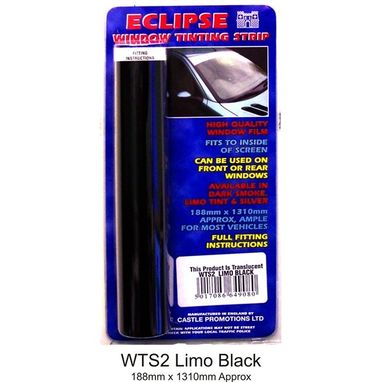 CASTLE PROMOTIONS Window Tint Strip - Limo Black