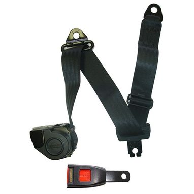 SECURON Seat Belt - Auto Lap & Diagonal - Black