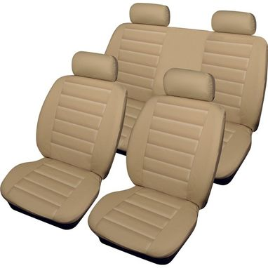 COSMOS Car Seat Cover Leatherlook - Set - Beige