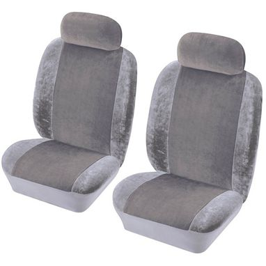 COSMOS Car Seat Cover Heritage - Front Pair - Grey