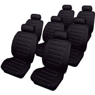 COSMOS Car Seat Covers - Leatherlook - 7 Seater Set - Black