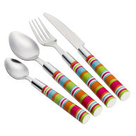 FLAMEFIELD Camper Smiles Stripe Cutlery Set - 16 Piece