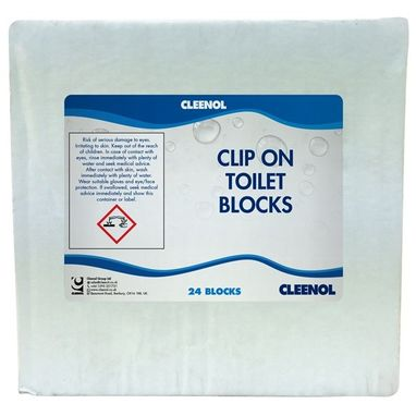 CLEENOL Clip On Toilet Blocks - Pack of 24
