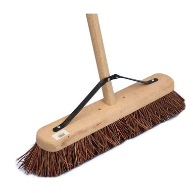 CLEENOL Soft Bristle Wooden Broom & Handle - 24in.