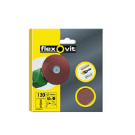 FLEXOVIT High Performance Aluminium Oxide Discs - Drill Mountable - P120 - 125mm - Pack Of 10