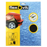 FLEXOVIT Wet & Dry Paper - P180 - Pack Of 3