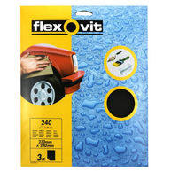 FLEXOVIT Wet & Dry Paper - P240 - Pack Of 3