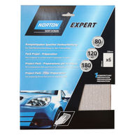 NORTON Norton Project Pack - Filler Preparation - Pack of 6 Sanding Sheets