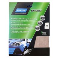 NORTON Norton Project Pack - Primer Preparation - Pack of 6 Sanding Sheets