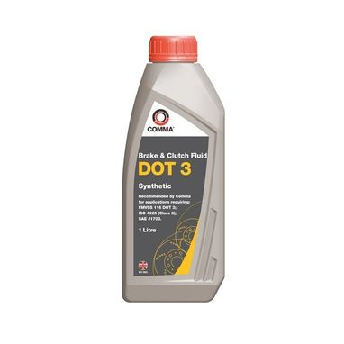 COMMA DOT 3 Synthetic Brake & Clutch Fluid - 1 Litre