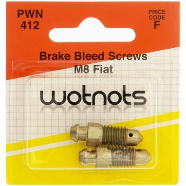 WOT-NOTS Bleed Screws - M8 x 1.25 Pitch - Fiat - Pack Of 2