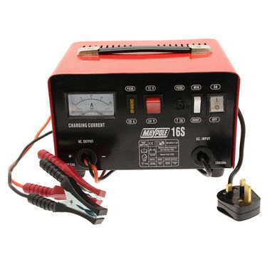 MAYPOLE Metal Battery Charger - 12A - 12V/24V