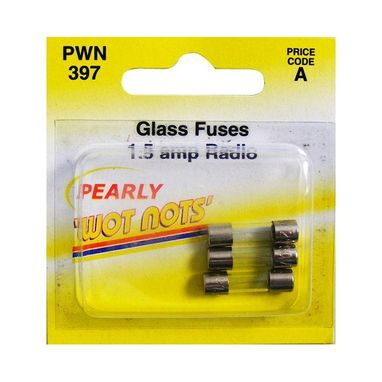 WOT-NOTS Fuses - DIN Glass - 1.5A - Pack Of 3