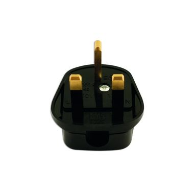 CONNECT High Impact Mains Plug Tops - Black - Pack Of 10