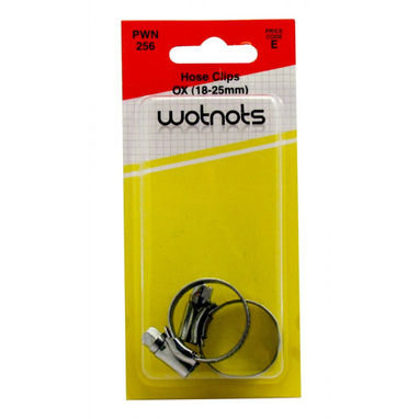 WOT-NOTS Hose Clips M/S OX 18-25mm - Pack of 2