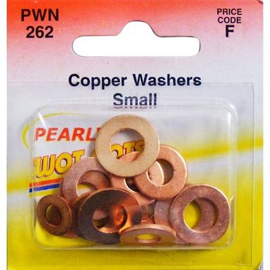 WOT-NOTS Copper Washers - Assorted Small - Pack Of 15