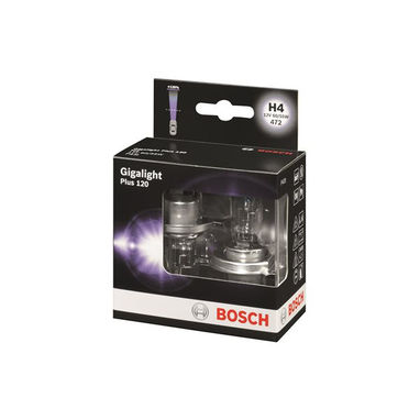 BOSCH Headlamp Halogen - H4 12V 60/55W P43t - Gigalight Plus 120
