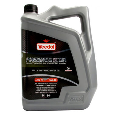 VEEDOL Powertron Ultra 5W-40 - Fully Synthetic - 5 Litre