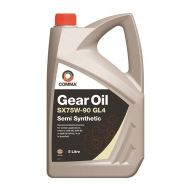 COMMA Gear Oil SX75W90 GL-4 - 5 Litre