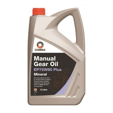 COMMA Gear Oil EP75W80 Plus - 5 Litre