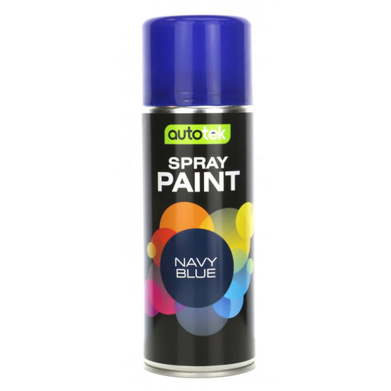 Autotek Aerosol Paint Gloss Navy Blue 400ml