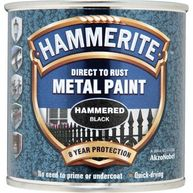 HAMMERITE Direct To Rust Metal Paint - Hammered Black - 250ml