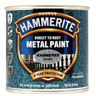 HAMMERITE Direct To Rust Metal Paint - Hammered Silver - 250ml