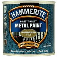 HAMMERITE Direct To Rust Metal Paint - Hammered Gold - 250ml