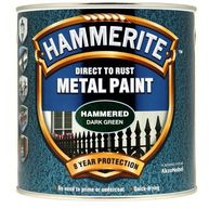 HAMMERITE Direct To Rust Metal Paint - Hammered Dark Green - 2.5 Litre