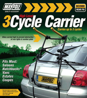 Maypole High Level 3 Cycle Carrier
