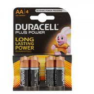DURACELL Plus Power Alkaline AA Batteries - Pack of 4