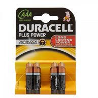 DURACELL Plus Power Alkaline AAA Batteries - Pack of 4