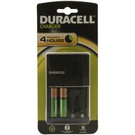 DURACELL Plug-in Battery Charger with 2x AA Batteries
