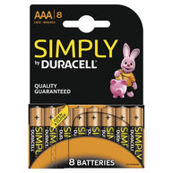 DURACELL Duracell Simply AAA Batteries - Pack of 8