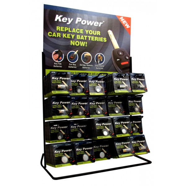 Keypower Coin Cell Battery 20 Hook Display Stand KP200