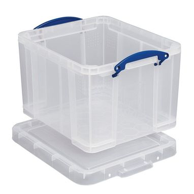 REALLY USEFUL Plastic Storage Box - Clear - 84 Litre