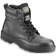 CONTRACTOR Leather 6in. Safety Boots S3 - Black - UK 6