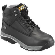 JCB Fast Track Leather Safety Boots S3 - Black - UK 12