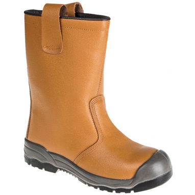 PORTWEST Steelite Rigger Boots S1P CI - Tan - UK 9