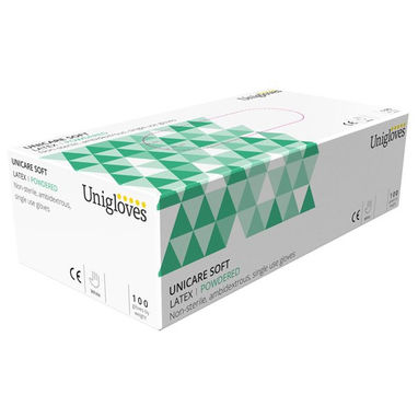 UNICARE Latex Powdered Gloves - Extra Large - Pack of 100